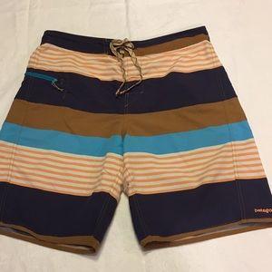 Men's Patagonia striped trunks.    34